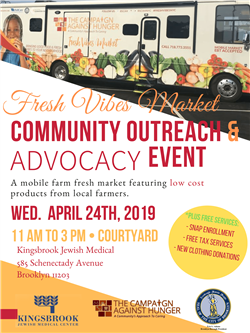 Kingsbrook Hosts Community Outreach Event with Bed-Stuy Campaign Against Hunger on Wednesday, April 24th