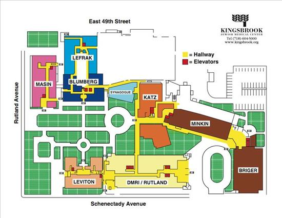 Kingsbrook Jewish Medical Center campus map