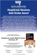 Kingsbrook Receives Gold Stroke Award